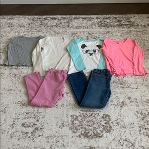 Other - BUNDLE-3 Girls Shirts, 1 Sweater, 1 Jeans, 1 Pants